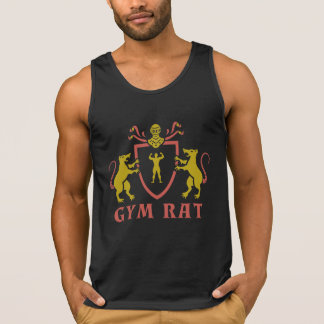Red and Yellow Gym Rat Tank Top