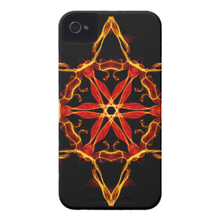 Red And Yellow Hexagram iPhone 4 Case-Mate Cases