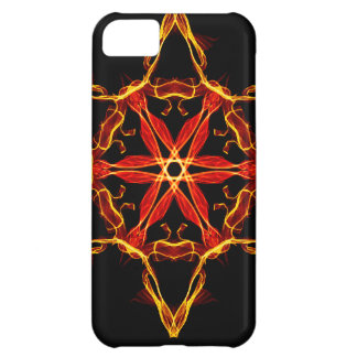 Red And Yellow Hexagram Cover For iPhone 5C