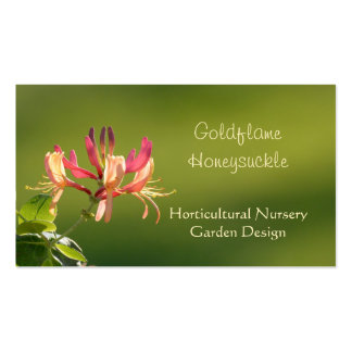 Red and yellow honeysuckle business card