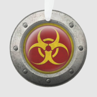 Red and Yellow Industrial Biohazard Steel Effect