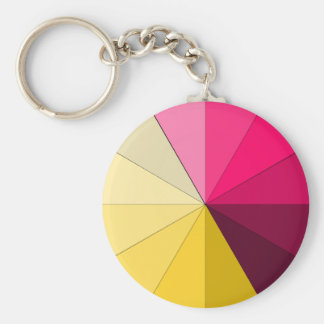 red and yellow keychain