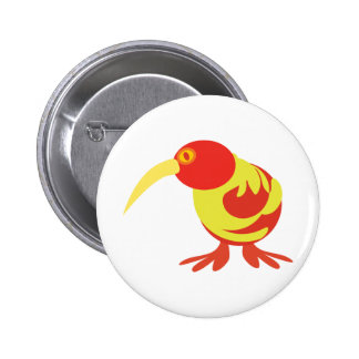 Red and Yellow Kiwi Pinback Button