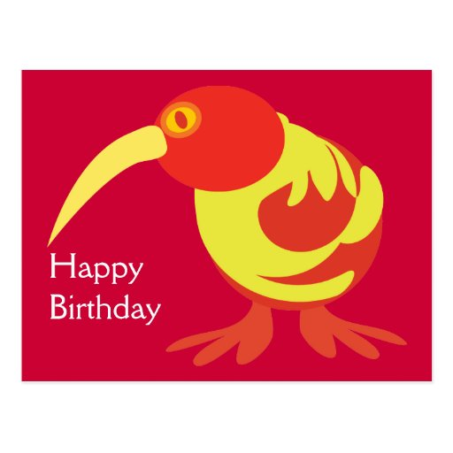 Red and Yellow Kiwi Post Card