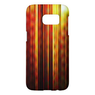 Red and yellow light streaks pattern samsung galaxy s7 case