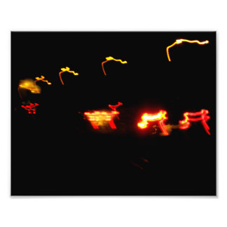 Red And Yellow Lights Photographic Print