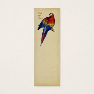 Red and Yellow Maccaw Bookmark Mini Business Card