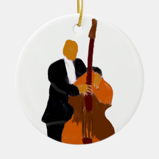 Red and yellow maracas graphic design ceramic ornament