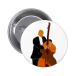 Red and yellow maracas graphic design pin