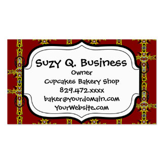 Red and Yellow Orange Crosses Tattoo Art Double-Sided Standard Business Cards (Pack Of 100)