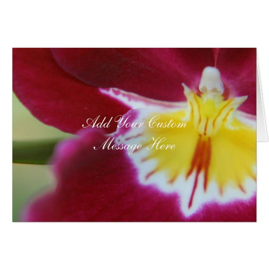 Red and Yellow Orchid Card