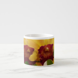red and yellow orchids mug 6 oz ceramic espresso cup