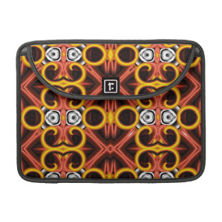 Red and Yellow Pattern Big Sleeves For MacBook Pro