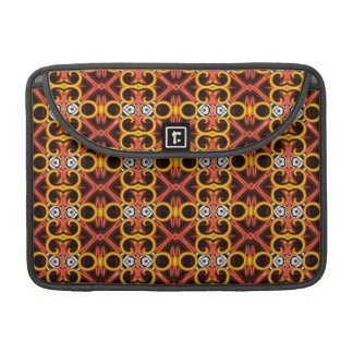 Red and Yellow Pattern Small Sleeve For MacBook Pro