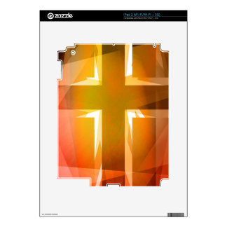 Red and yellow religious cross skin for iPad 2