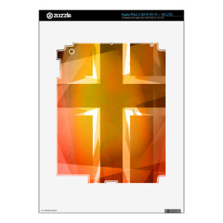Red and yellow religious cross iPad 3 decals