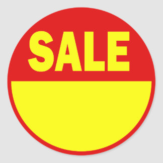 Red and Yellow Retail Sale Sticker