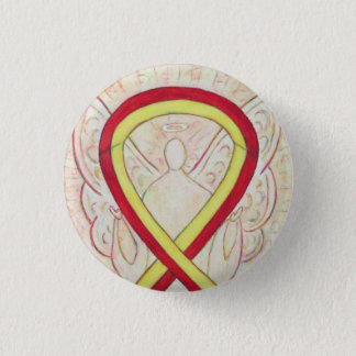 Red and Yellow Ribbon Awareness Angel Pins