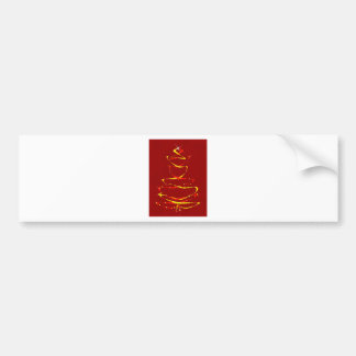 Red and Yellow Ribbon Tree Bumper Sticker