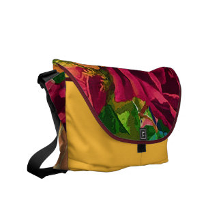 Red and Yellow Roses Messenger Bag