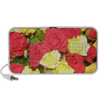 Red and yellow roses speaker