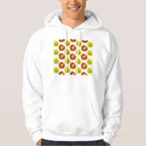Red and Yellow Softball Flower Pattern Hoodie