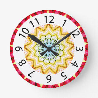 Red and Yellow Southwestern Clock