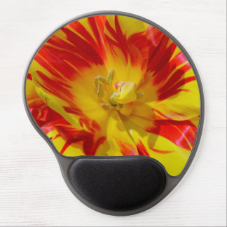 Red and yellow spring tulip gel mousepad