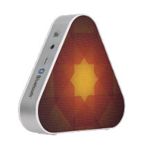 Red and yellow star pattern bluetooth speaker