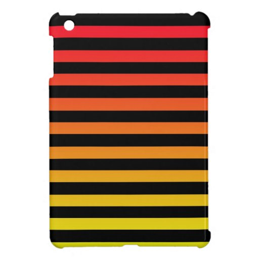 Red and Yellow Striped Mini iPad Case Cover For The iPad Mini