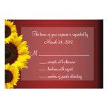 Red and Yellow Sunflower Wedding RSVP Invite