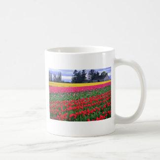 Red And Yellow Tulip Field flowers Mug