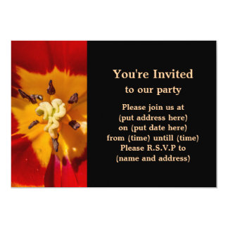 Red and Yellow Tulip Flower Card