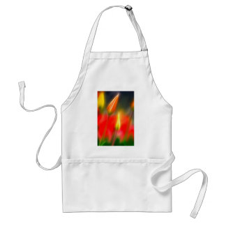 Red and Yellow Tulip Glow Adult Apron
