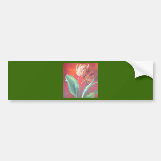 Red and Yellow Tulips Bumper Sticker