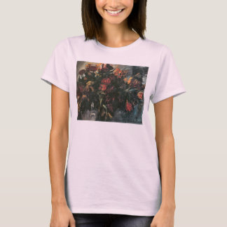 Red and yellow tulips by Lovis Corinth T-Shirt
