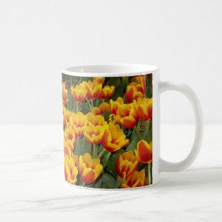 Red and Yellow Tulips Classic White Coffee Mug
