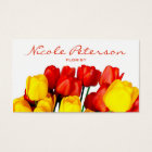 red and yellow tulips - florist business card