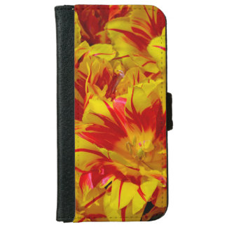 Red and yellow tulips iphone wallet case