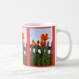 Red and Yellow Tulips Coffee Mugs