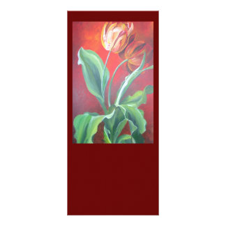 Red and Yellow Tulips Rack Card