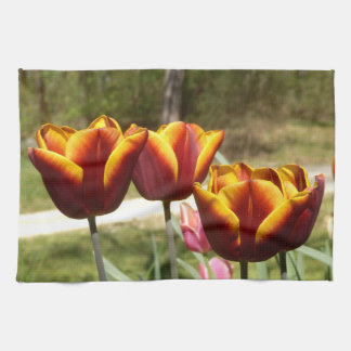 Red and Yellow Tulips Tea Towel