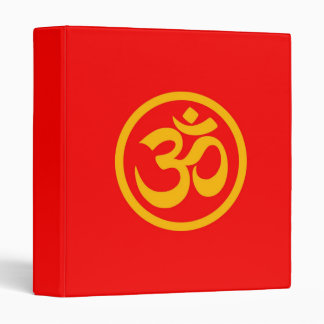 Red and Yellow Yoga Om Circle Binders