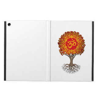 Red and Yellow Yoga Om Tree of Life Cover For iPad Air