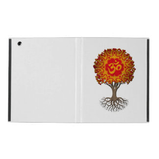 Red and Yellow Yoga Om Tree of Life iPad Cover