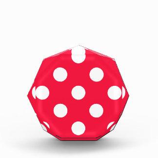 Red andd white polka dots award