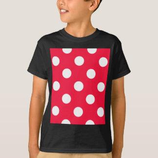 Red white polka dots t shirts shirt designs zazzle for White red polka dot shirt