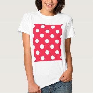 Women 39 s red and white polka dot t shirts zazzle for White red polka dot shirt