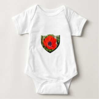 Red Anemone Coronaria Baby Jersey Bodysuit