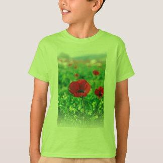 Red Anemone Coronaria Kids' Basic T-Shirt